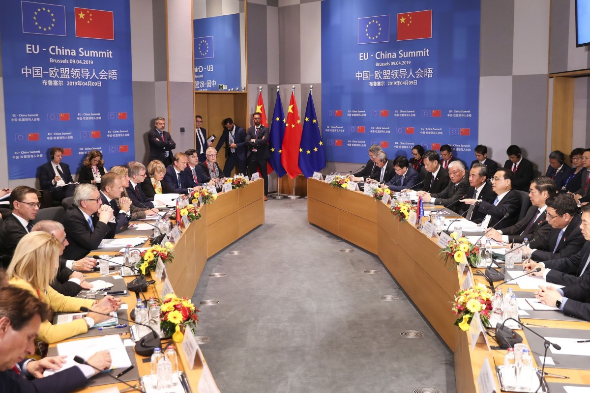 10dfbb2b0c China's trade tensions with the United States are holding up progress  between Beijing and Brussels.