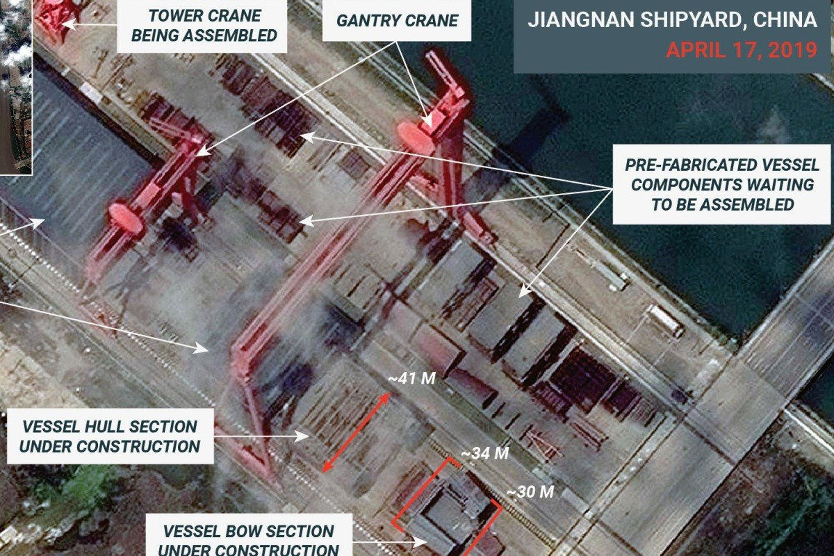 Satellite Images Show How Work On China's New Type 002