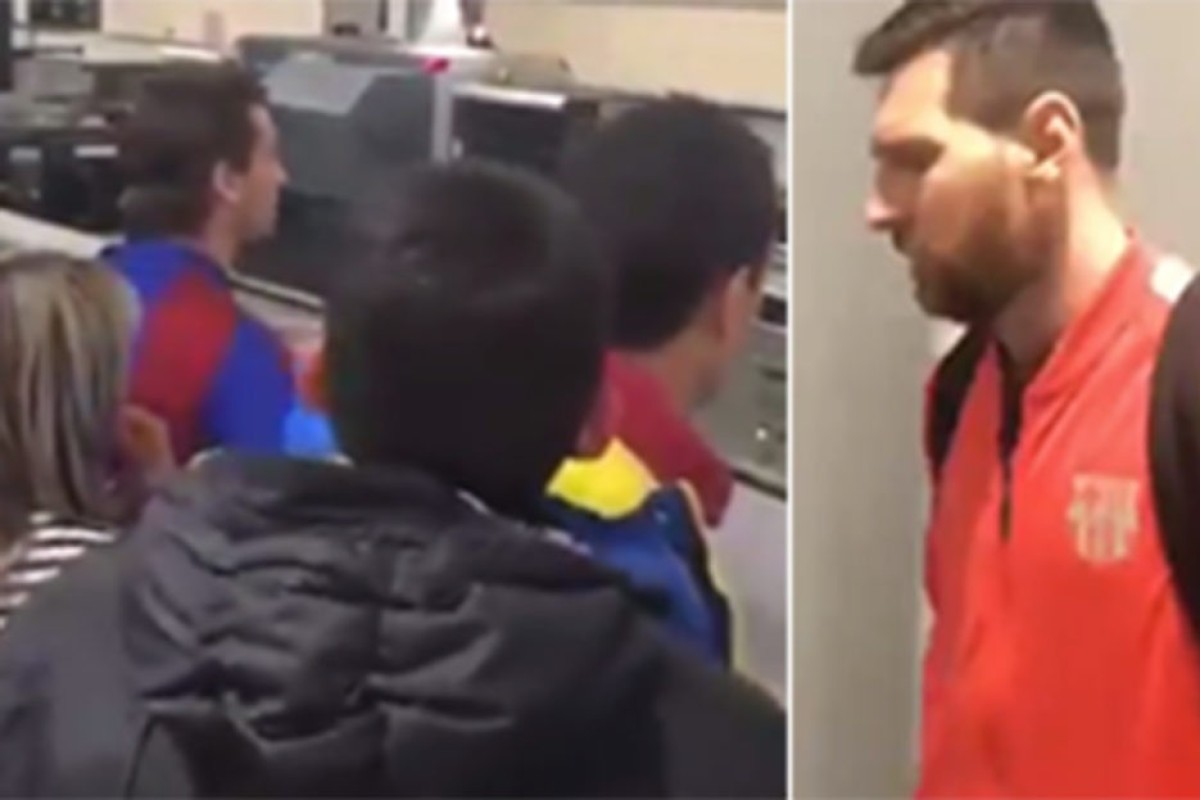 b4be3ed86eb Lionel Messi was reportedly confronted by angry Barcelona fans at the  airport after the defeat by