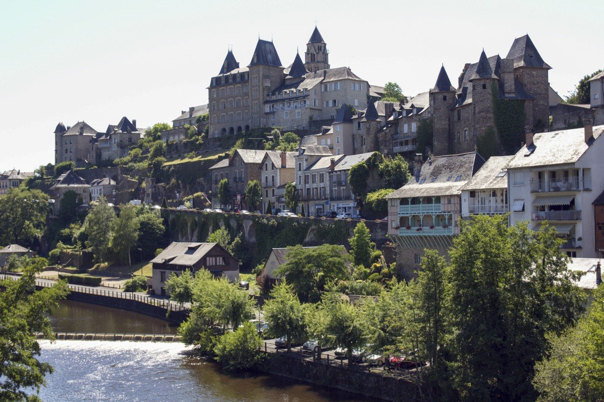 best website ea6b9 fca8d The picturesque town of Uzerche, in Corrèze, a department in southwestern  France. The