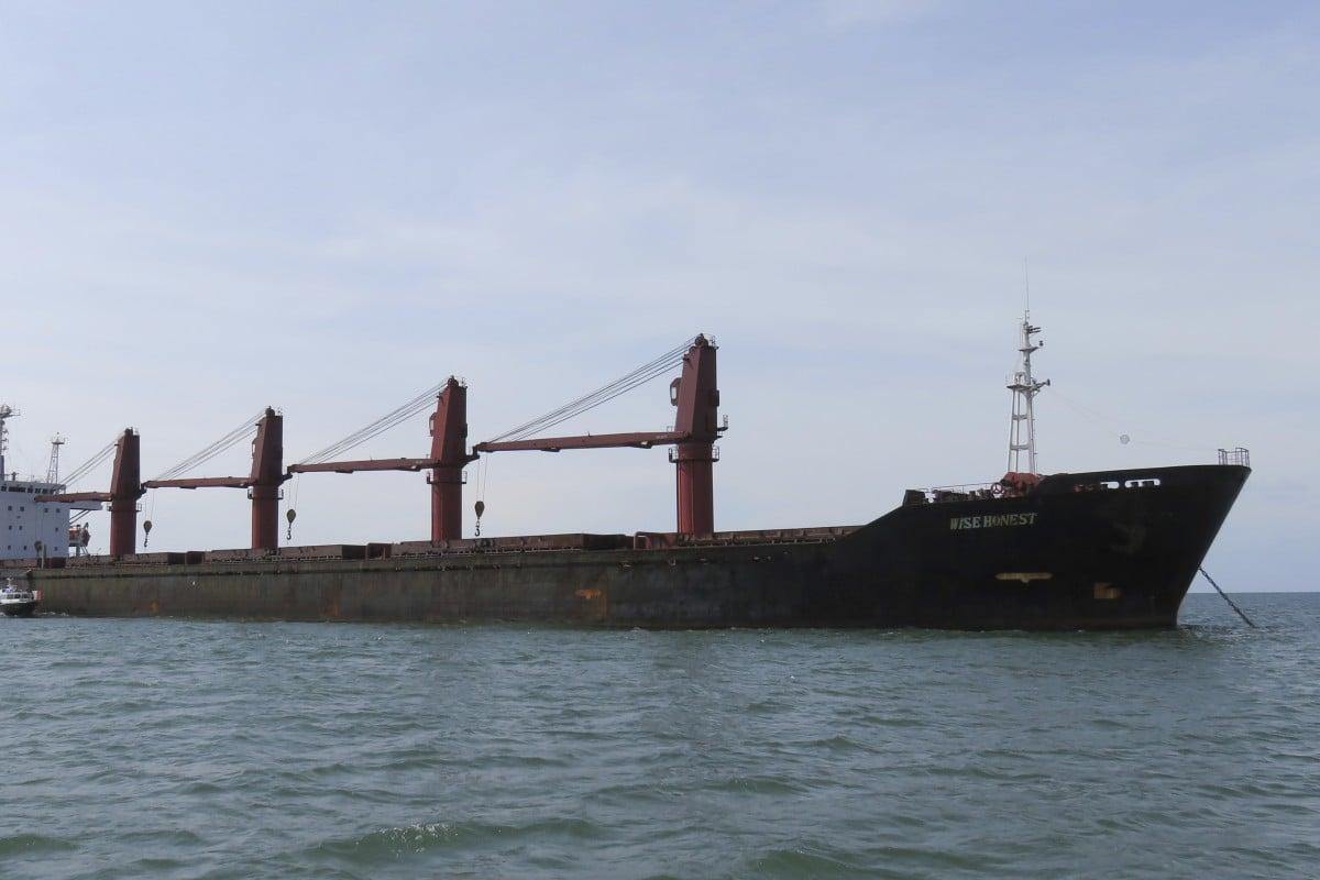 North Korean cargo ship Wise Honest. Photo: AP