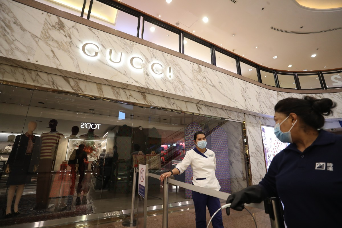 49704194b Gucci shop in Hong Kong's Harbour City mall closes for disinfection ...