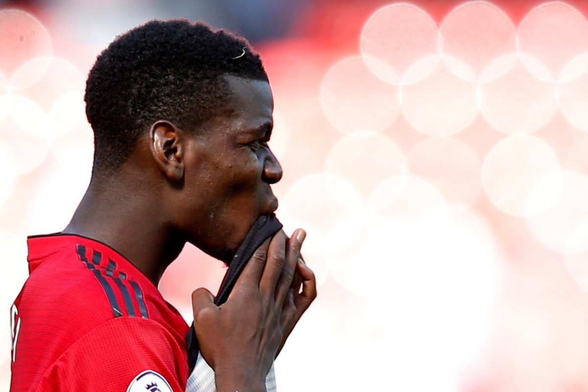 81c356dc7 Manchester United s Paul Pogba looks dejected after ending the season with  a home defeat to relegated
