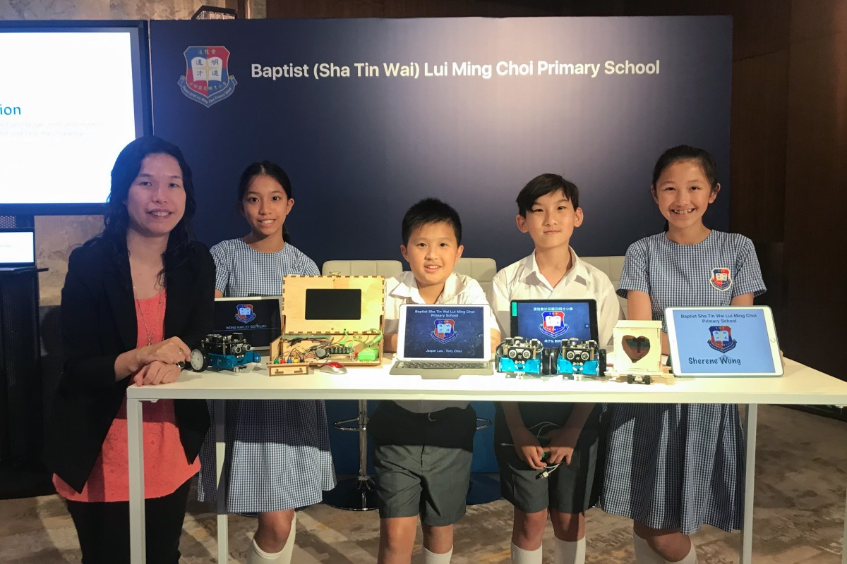 cd633d49cb51 Teacher and students from Baptist (Sha Tin Wai) Lui Ming Choi Primary  School at