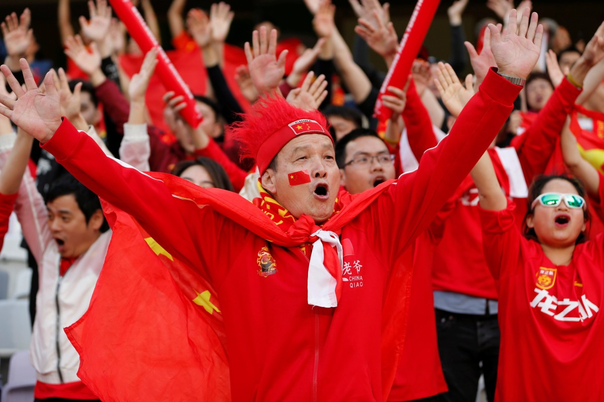 a28a4fa1b China fans cheer their team on against Thailand at the 2019 Asian Cup in  the UAE