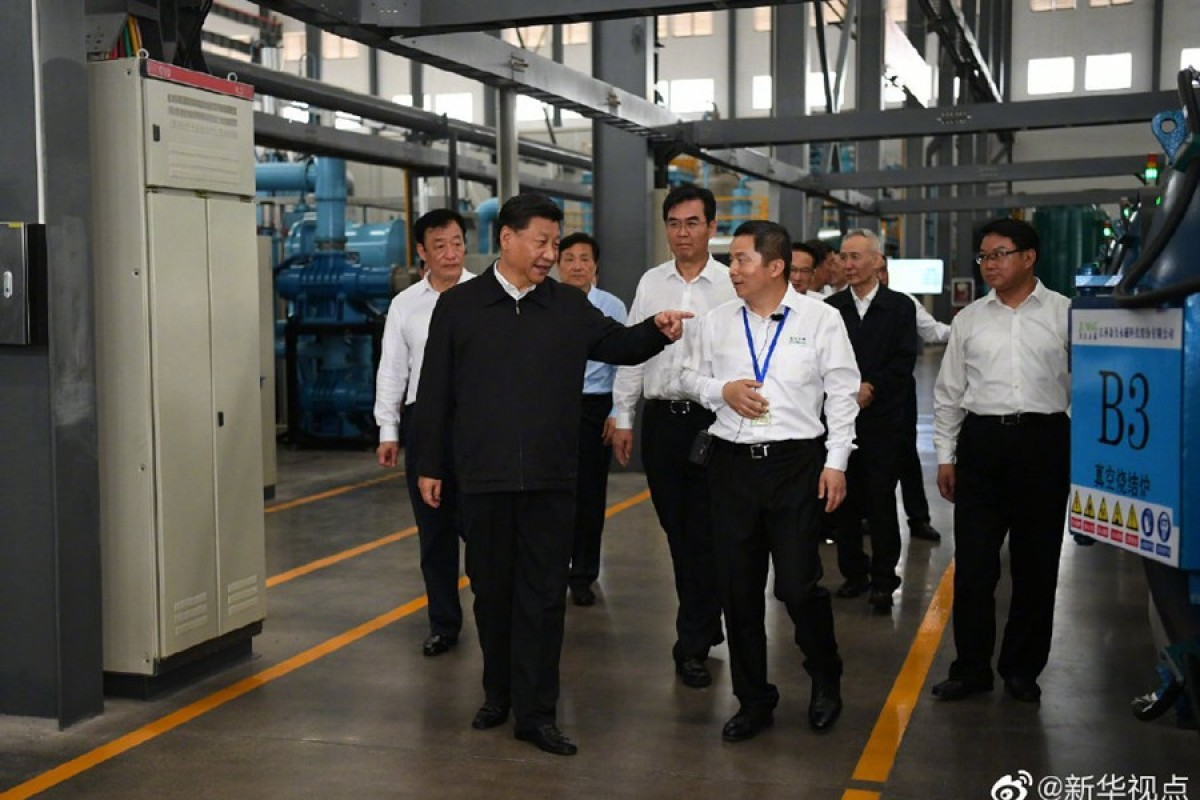 President Xi Jinping paid a visit to the country's rare earth mining base in Jiangxi province on Monday, according to the official Xinhua news agency, in his first domestic tour after the trade talks between Beijing and Washington ended without a deal. Photo: Xinhua