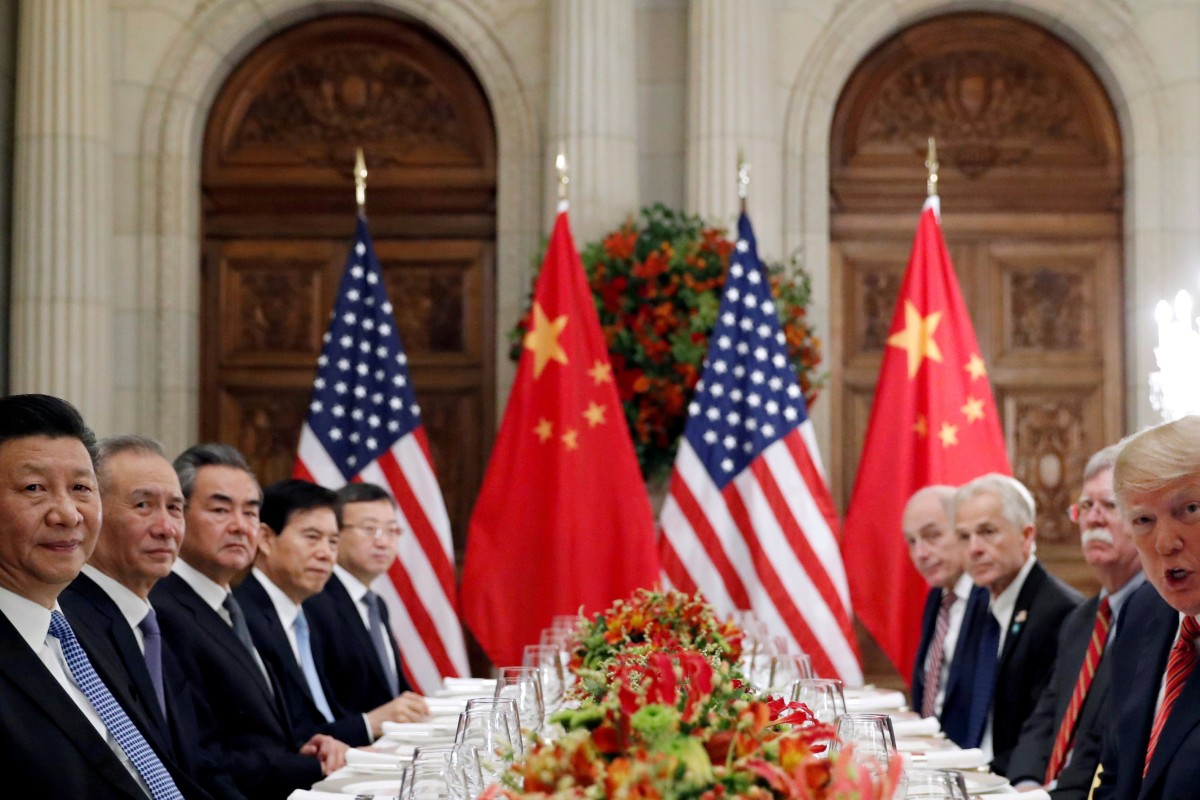 Chinese President Xi Jinping (first left) and US President Donald Trump attend a working dinner with their teams after the G20 leaders summit in Buenos Aires, Argentina, on December 1, 2018. The trade truce that was declared after that meeting recently expired, with the US and then China raising tariffs on each other's goods. Photo: Reuters
