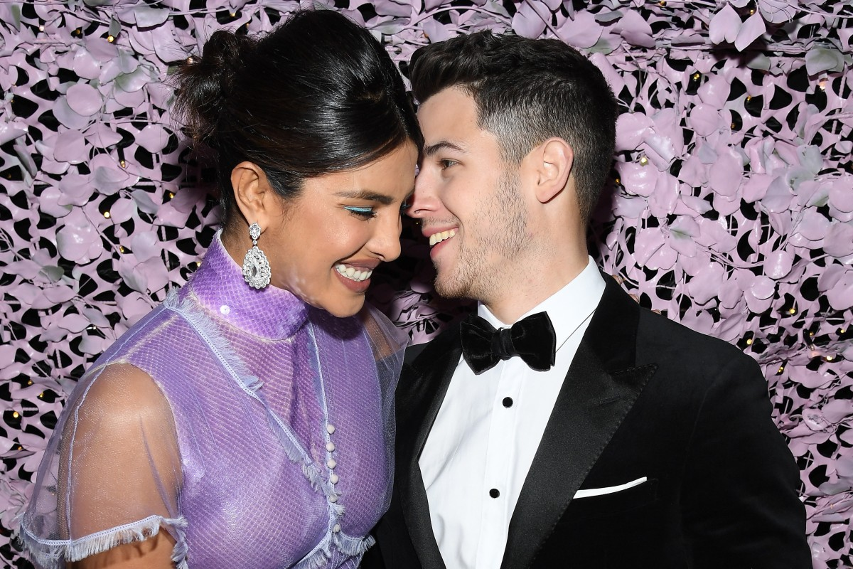 7e9ec76a Actress Priyanka Chopra (left) with her husband, musician Nick Jonas, at  last