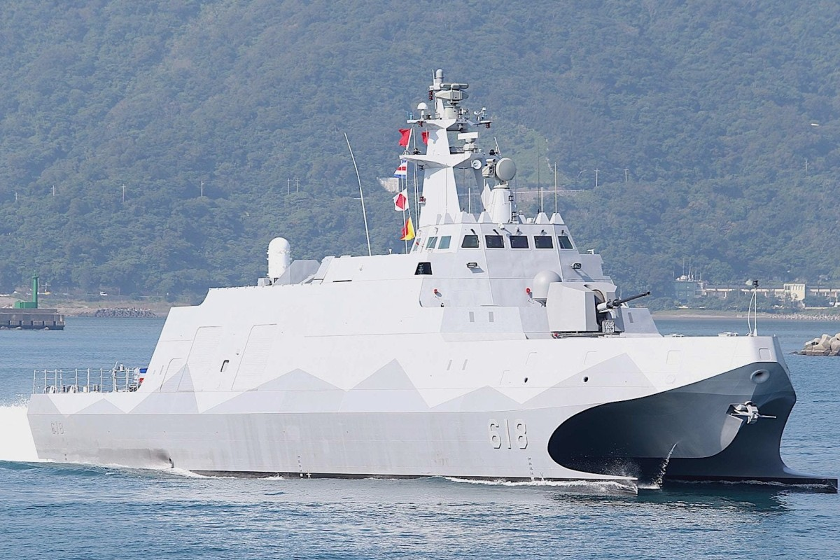 Taiwan began mass production of its Tuo Jiang-class missile corvettes on Friday. Photo: Handout