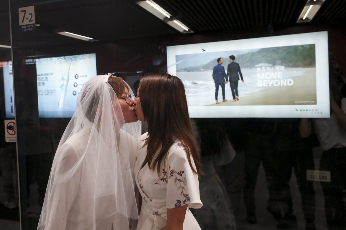 Controversial same-sex advert finally goes on display in Hong Kong as one lawmaker prepares to rail against...