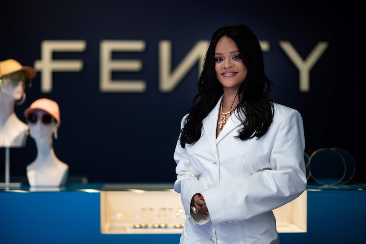 71bf681c4a2dae Rihanna poses at a promotional event for her brand, Fenty, in Paris. Photo