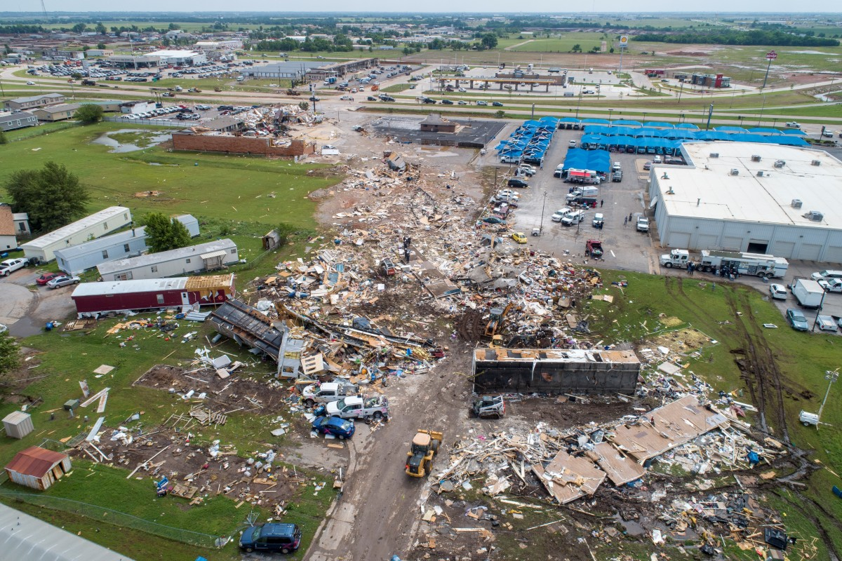 Devastation after deadly twister tears through Oklahoma city