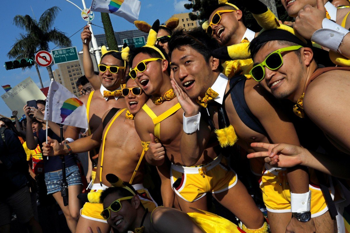 An LGBT pride parade in support of Taiwan's same-sex marriage law. Photo: Reuters
