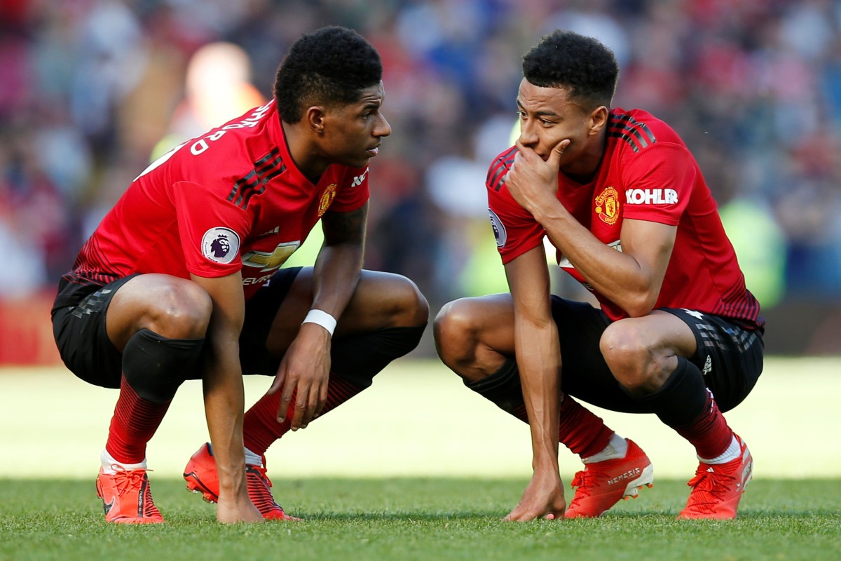 96550ab9254 Manchester United s Marcus Rashford with Jesse Lingard after losing to  Cardiff City. Photo  Reuters