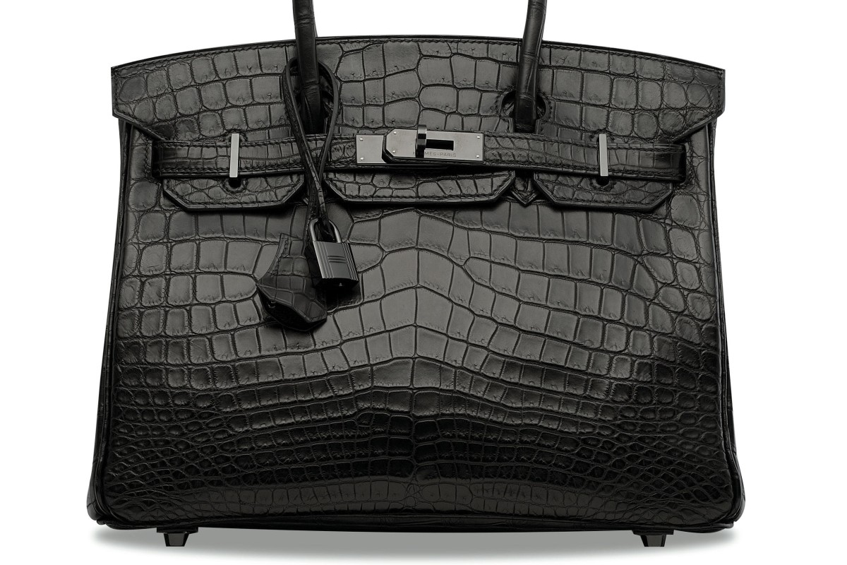 A Hermès So Black series handbag of the same design as one that sold for a world record price for the series at auction in Hong Kong this week. Photo: Hermès
