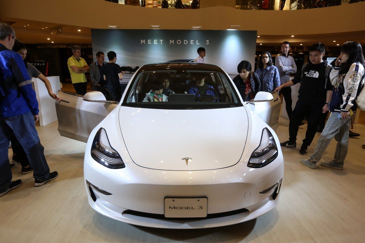 Tesla said on Friday that its Model 3 electric car, which will be assembled in China, will be ready for deliveries in six to 10 months. Photo: AFP