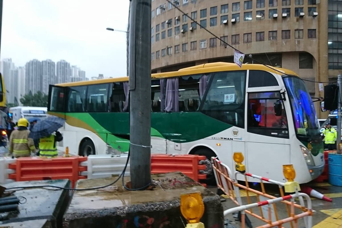 Fifteen injured in early morning crash between Hong Kong