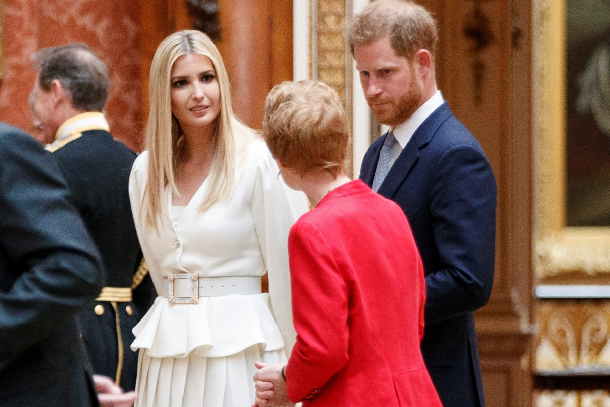 4485704ab Ivanka Trump and Britain's Prince Harry review items from the Royal  Collection at Buckingham Palace in