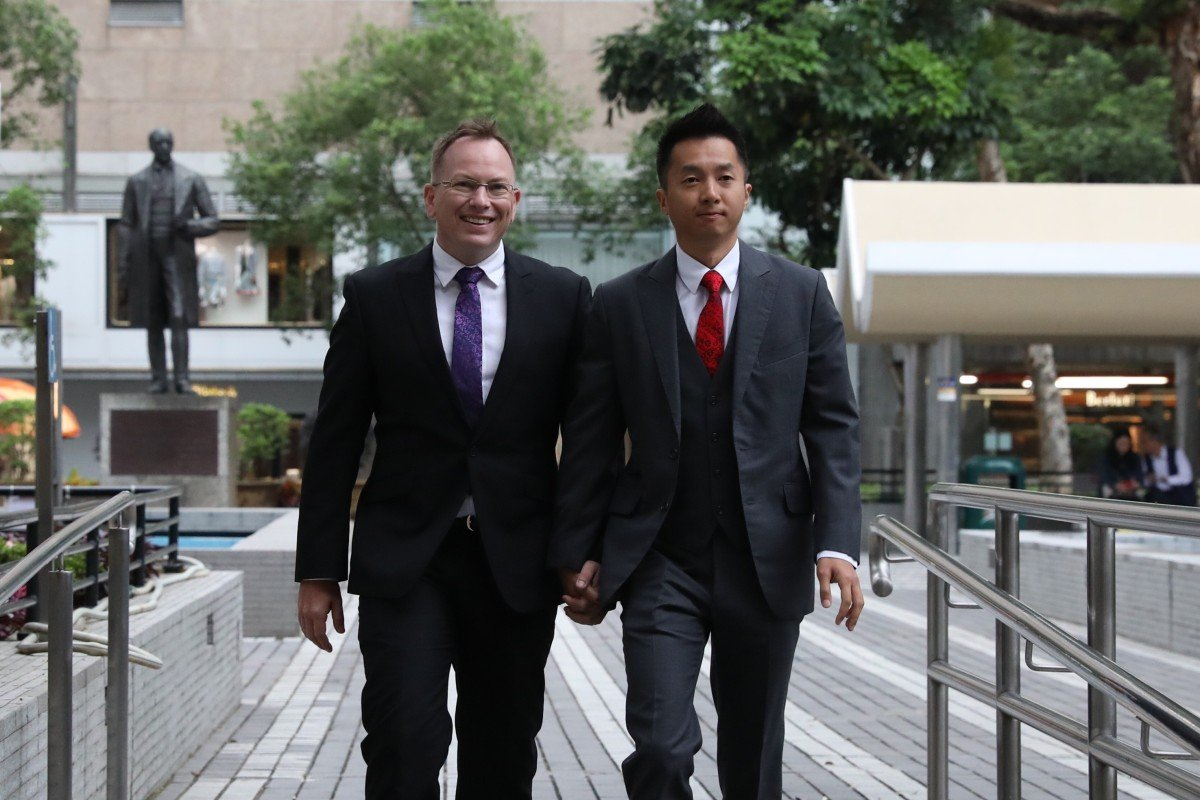 Gay civil servant wins final appeal on spousal benefits for husband in another victory for Hong Kong's LGBT...