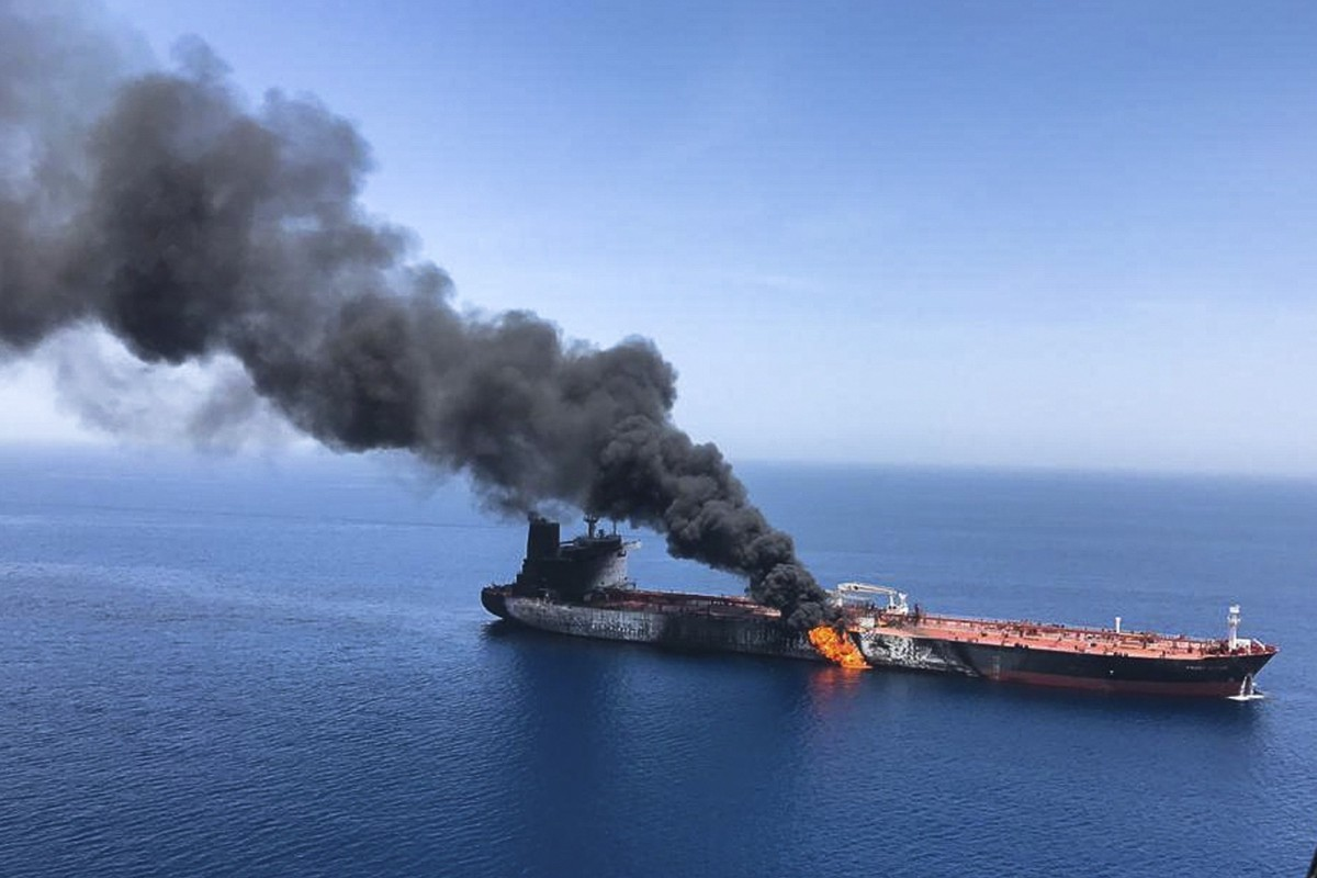 Two Tankers Left In Flames After Suspected Attacks In Gulf