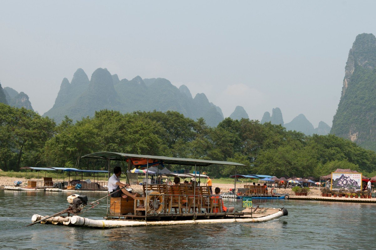 Guilin is renowned for its scenic cruises along the Li River, through magnificent karst mountains. But one tour group was forced on an unexpected shopping trip. Photo: Alamy