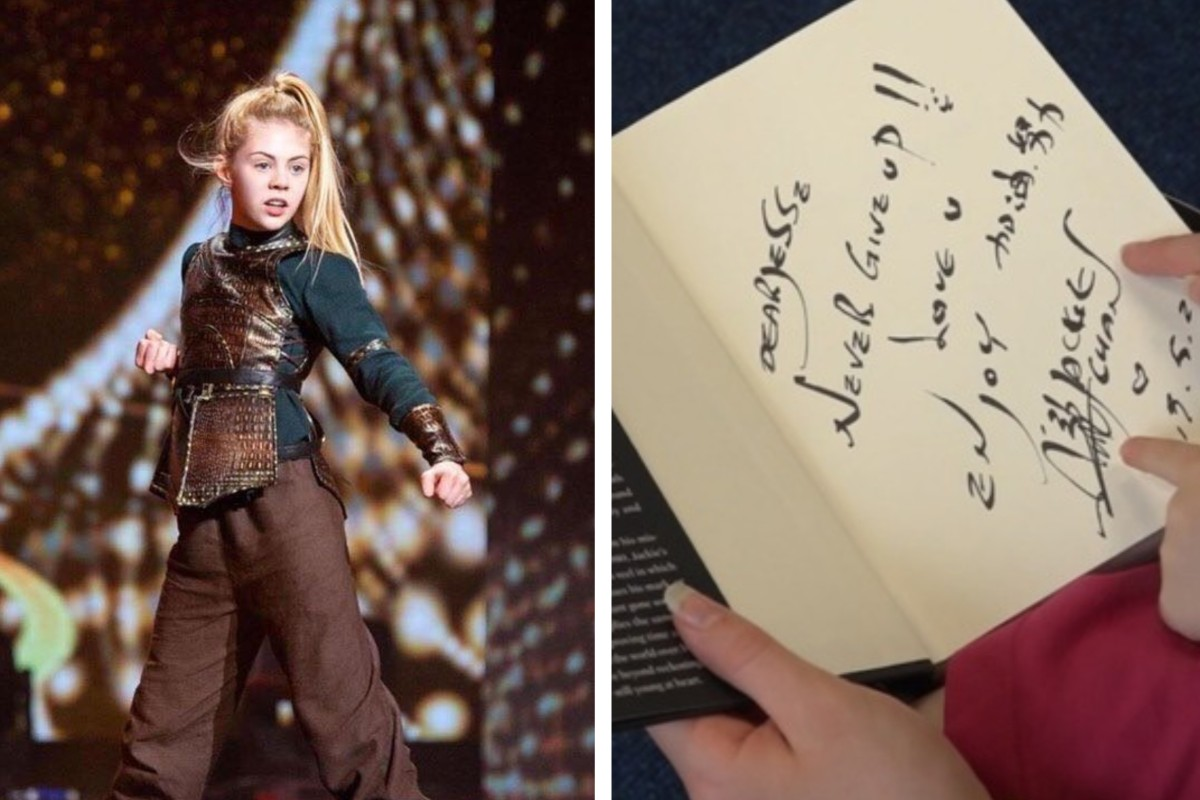 Jackie Chan's inspirational message for Jesse Jane McParland, teenage martial arts star of World's Got Talent