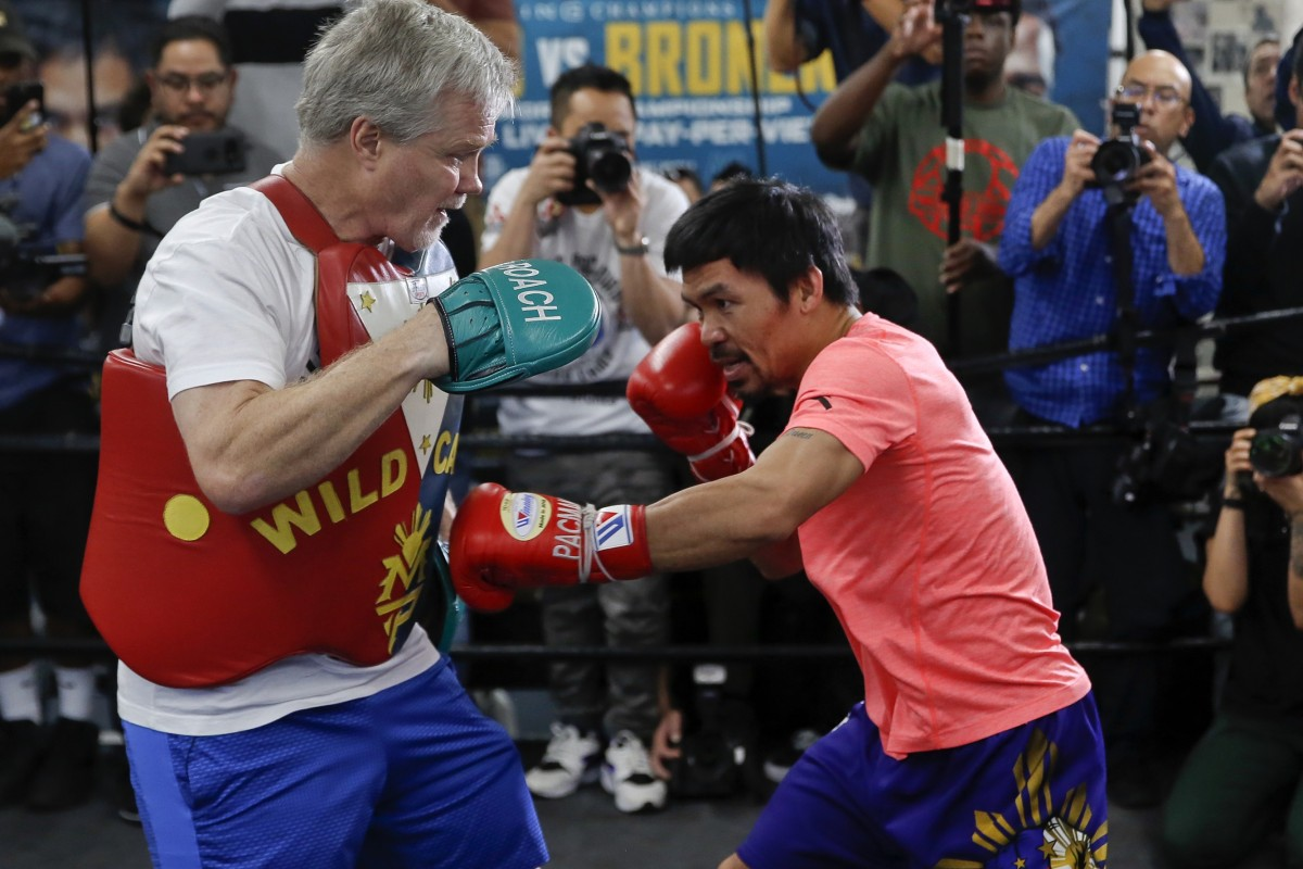 detailed look 9e1ad 21379 Trainer Freddie Roach and Manny Pacquiao are back together as a team for  the fight against
