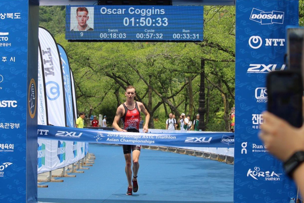 f95feeaf53b Oscar Coggins is one step closer to representing Hong Kong in the triathlon  at the 2020