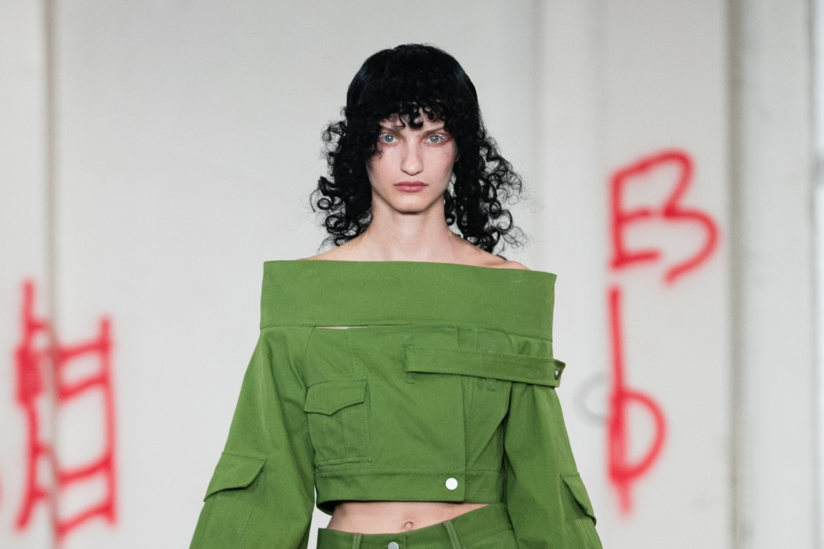 e351f4d89c2d Detail from a look from the spring-summer 2019 collection of fashion label  Asai,