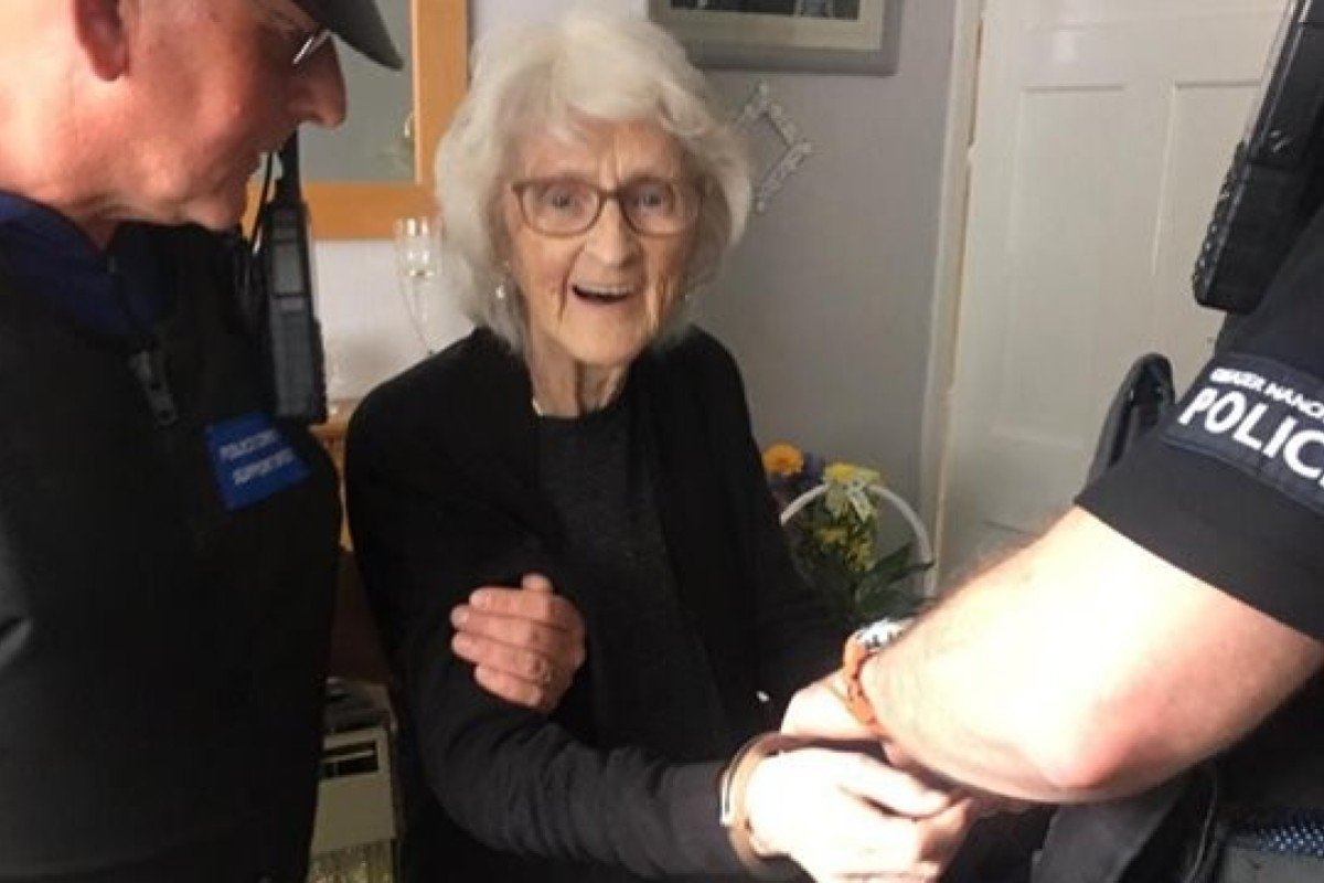 British granny, 93, 'arrested' as a bucket list wish after being 'good all her life'