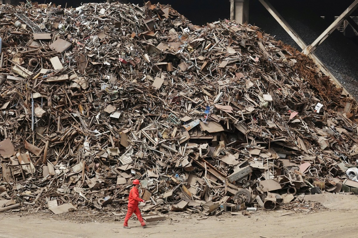 China is restricting imports of scrap metal as part of its efforts to reduce pollution. Photo: Reuters