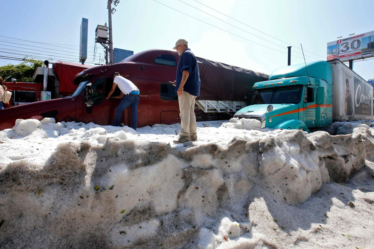 Incredible' freak hailstorm causes chaos in Mexico's