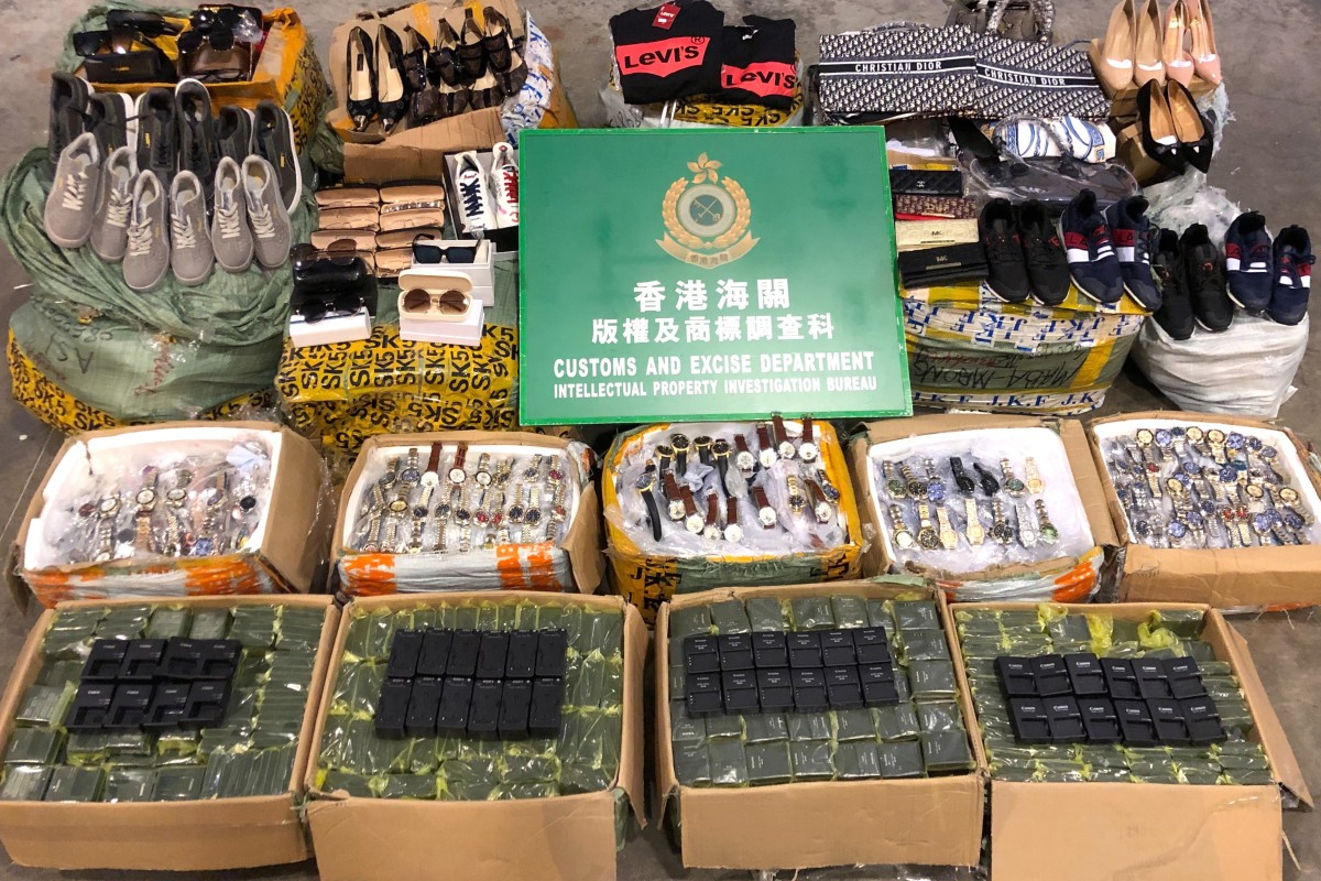 Customs officials seize US$61,450 worth of counterfeit goods on
