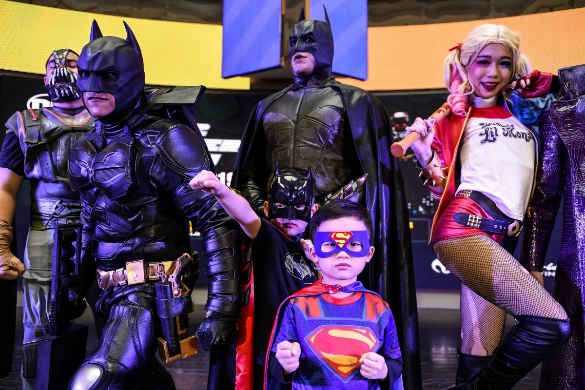 fa34dd1d2 Malaysian cosplayers at an event to mark the 80th anniversary of Batman in  Genting Highlands resort
