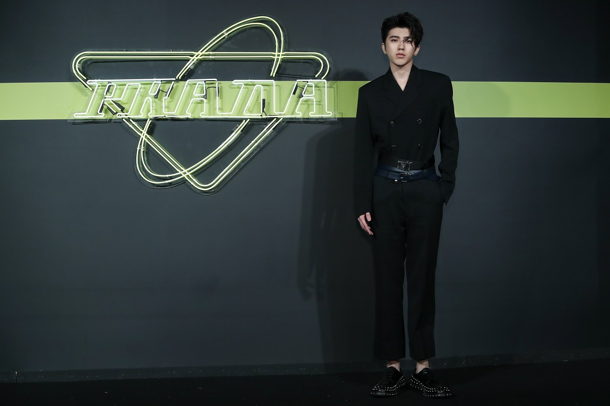 f1ee704d9ad Cai Xukun, lead singer of the Chinese boy group, Nine Percent, looks dapper