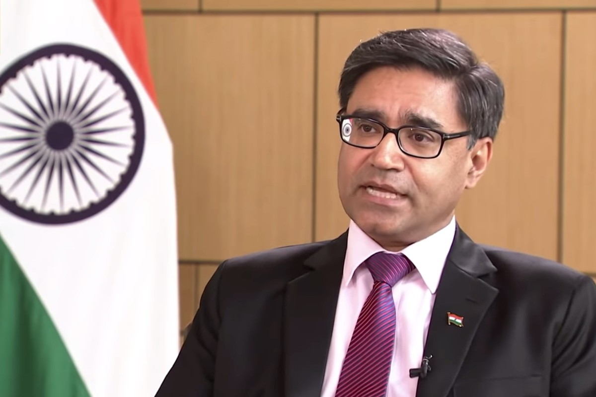 Indian ambassador to China Vikram Misri says that while the countries' differences will not derail ties, there are still thorny issues to grapple with. Photo: CGTN
