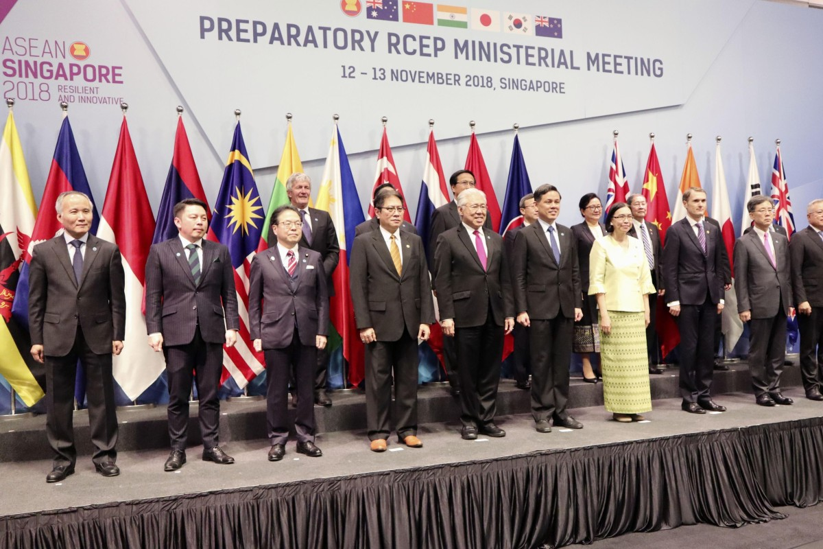 Ministers from 16 Asia-Pacific countries meet in Singapore to discuss the Regional Comprehensive Economic Partnership free-trade pact. Photo: Kyodo