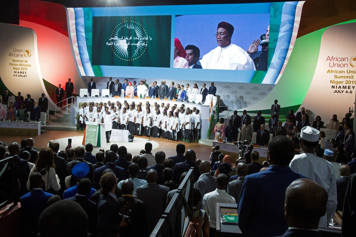Niger's President Mahamadou Issoufou hailed it as 'the greatest historical event for the African continent since the creation of the Organisation of African Unity in 1963,' referring to the AU's predecessor. Photo: Reuters