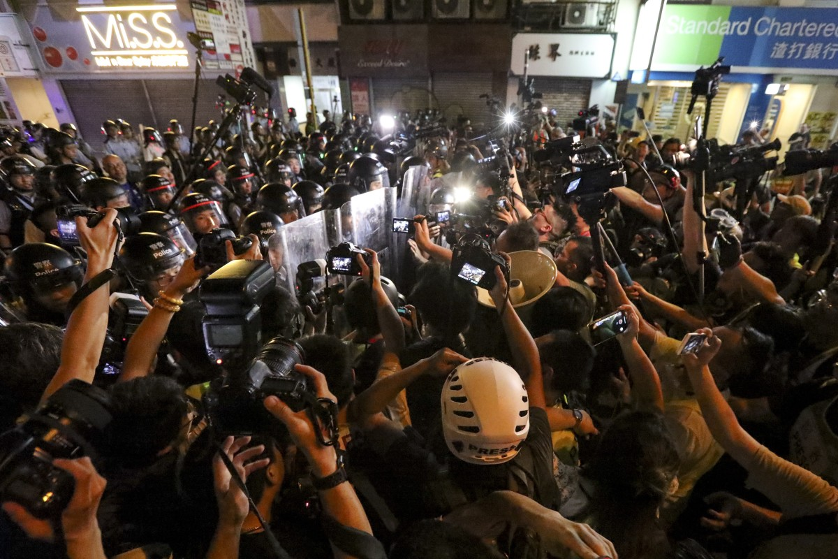 Have you seen so many press and reporters in a riot?