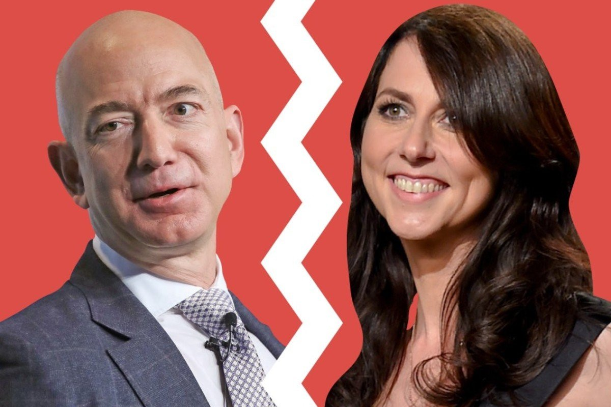 9a612bd4293a The divorce between Amazon CEO Jeff Bezos (left) and MacKenzie Bezos was  confirmed by
