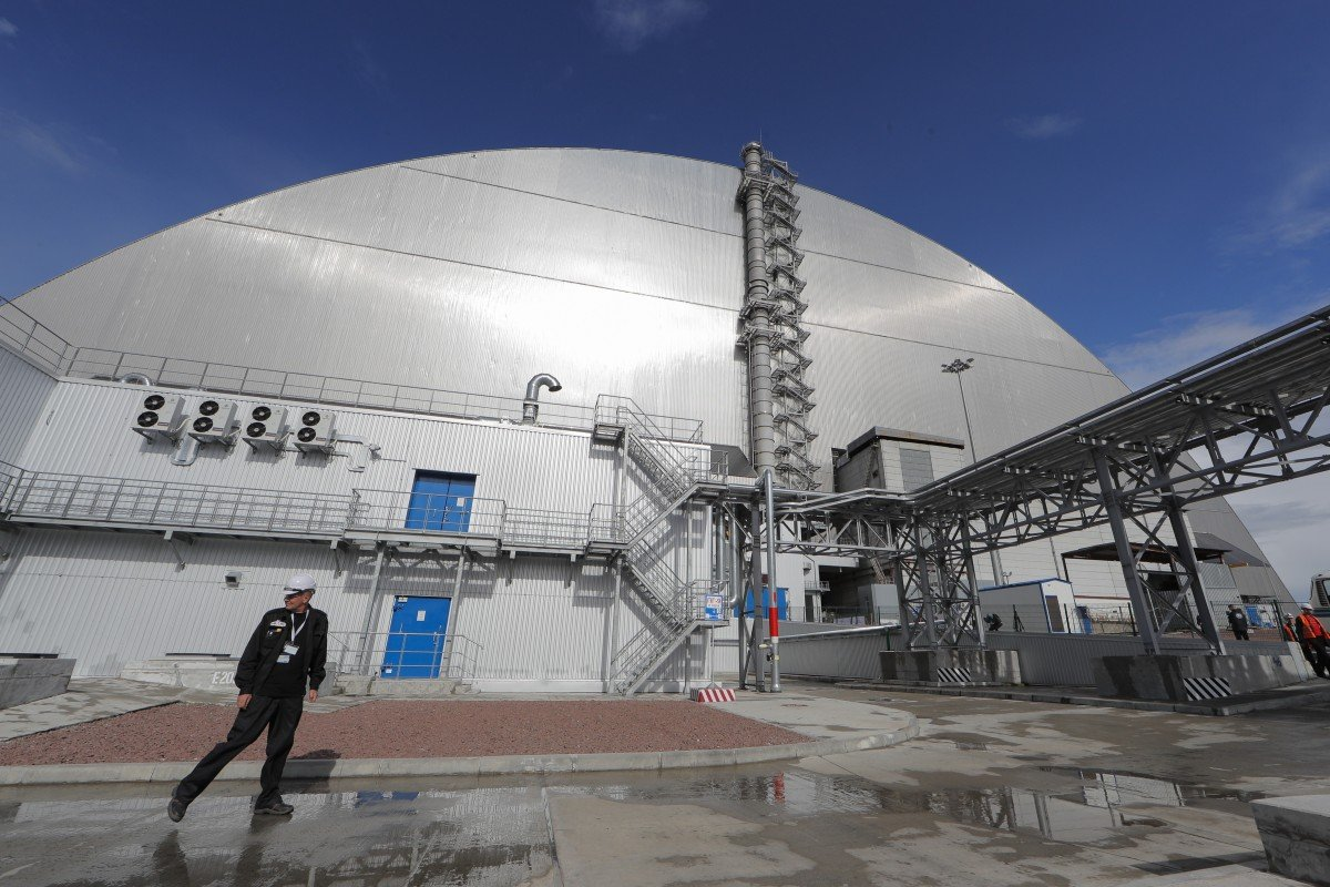 Chernobyl's new US$1 7 billion radioactive dust shelter unveiled in
