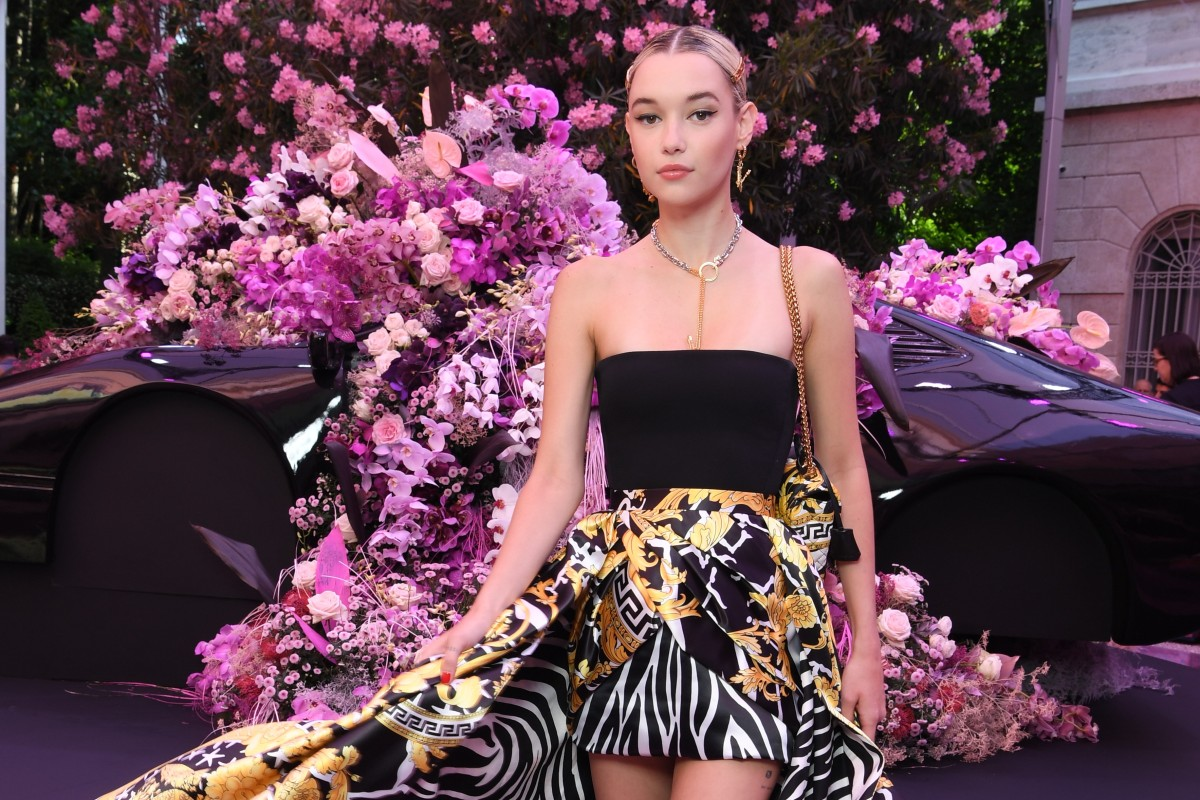 b187d7fda60f7 Model Sarah Snyder was among the celebrities attending Versace's men's  spring/summer 2020 show at