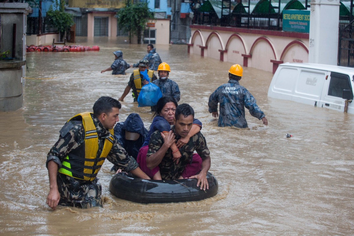 Dozens dead in Nepal after monsoon rains lead to floods