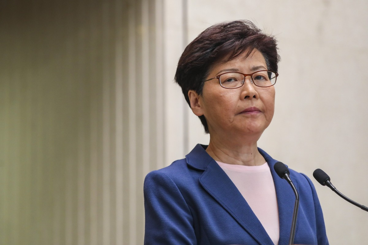 Embattled Hong Kong leader Carrie Lam's approval rating rises a little but she remains least popular chief...