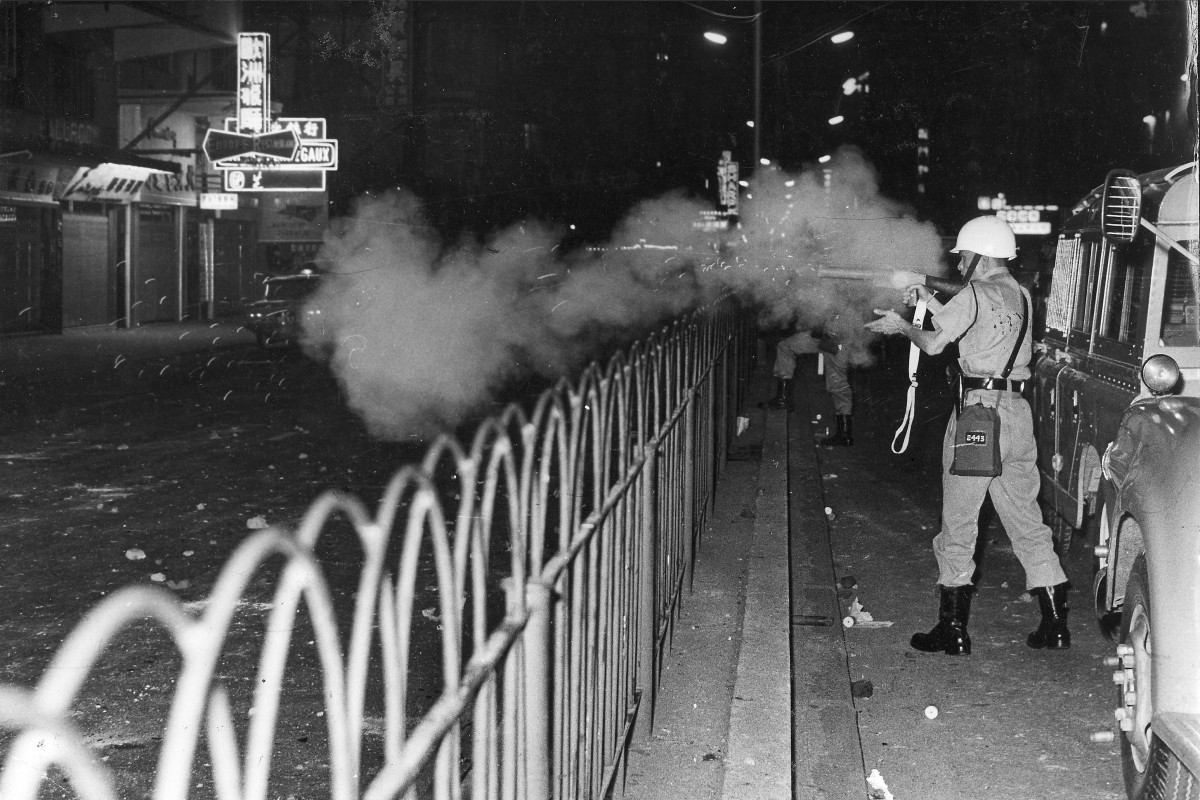 Rioting in Kowloon in April 1966. File photo