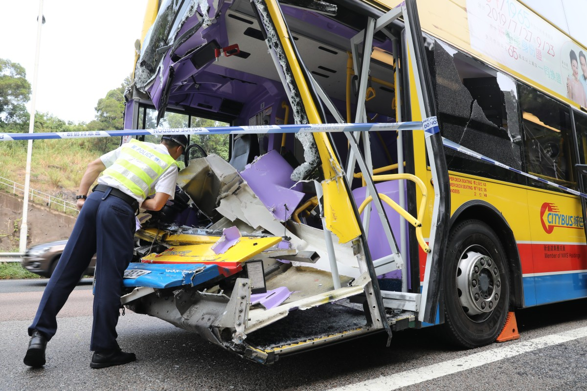 Fatal crash on Hong Kong motorway leaves bus driver dead and