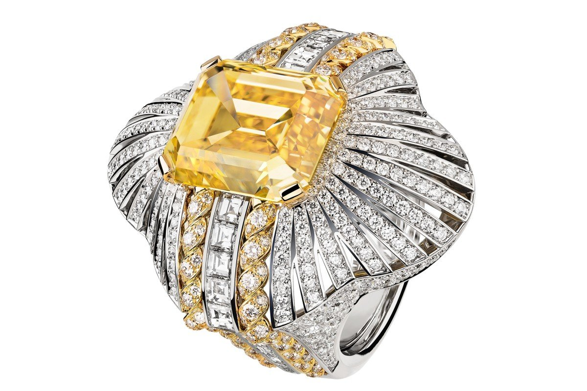 672e6ae748b Chanel's Médaille Solaire ring, which includes white and yellow gold with  diamonds, from the