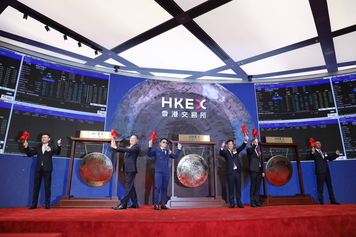 Hong Kong exchange marks a bumper day with six stock trading debuts