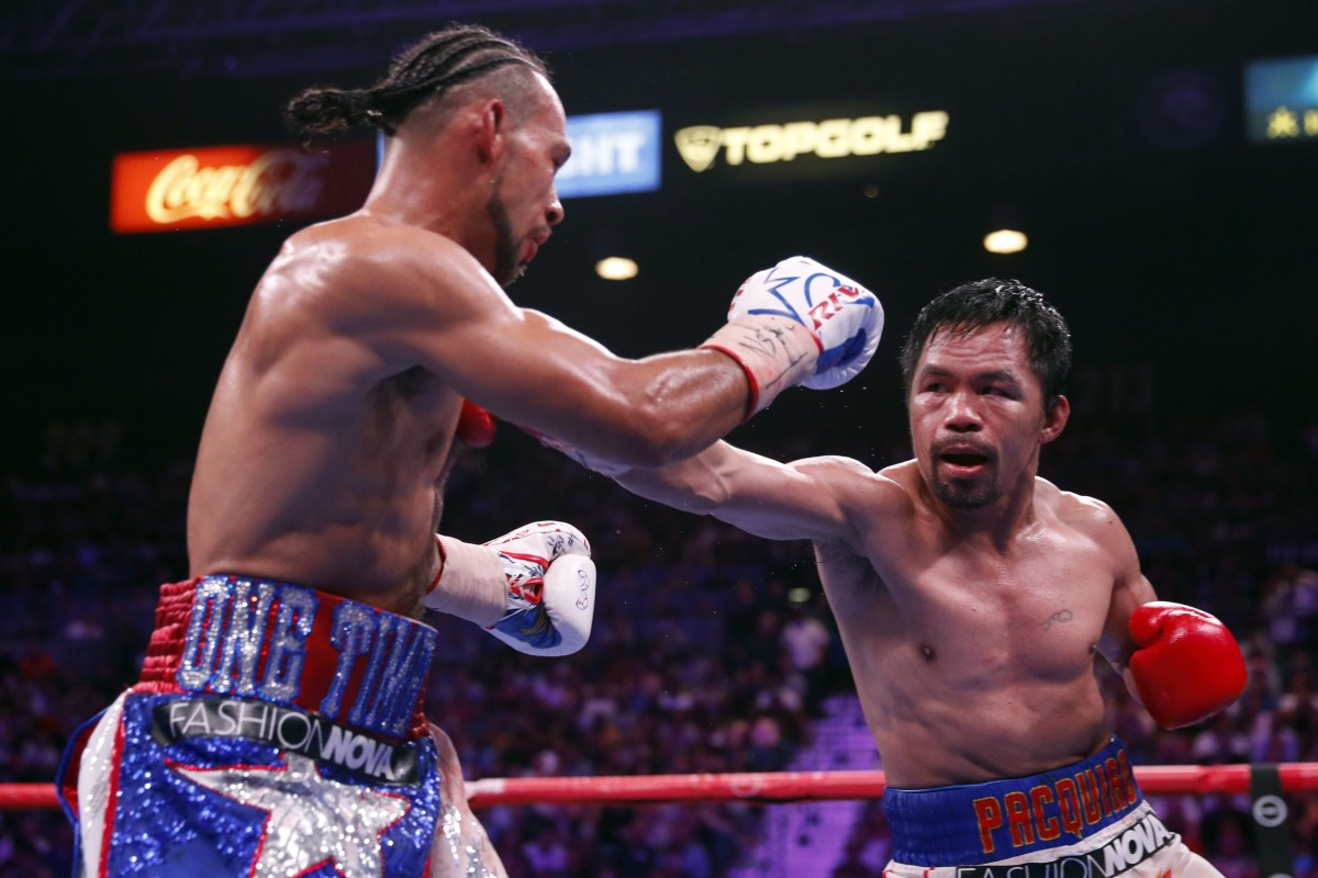 Manny Pacquiao is still going ...