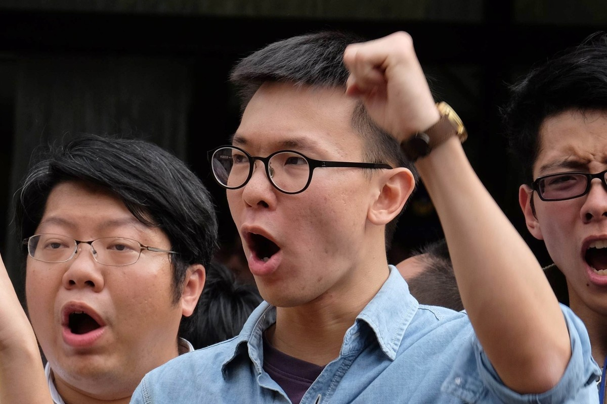 Lin Fei-fan, who was a leader of the Sunflower movement in 2014, said the campaign against the extradition bill in Hong Kong was being closely watched in Taiwan. Photo: AFP